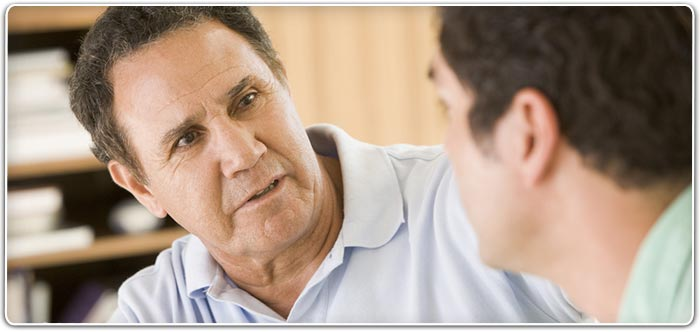 Picture of a counselor counseling another